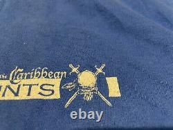 Pirates Of The Caribbean Disney Film Rare Stunt Crew Promo T-shirt Adult Large