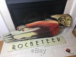 Présentoir De Voyageur Debout De Pendule De Salle De Cinéma Originale De Disney The Rocketeer, 5 Pi