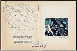Programme D'exposition Cinématographique Walt Disney Museum Rétrospective 1940 9x11.5 Vf 7.5