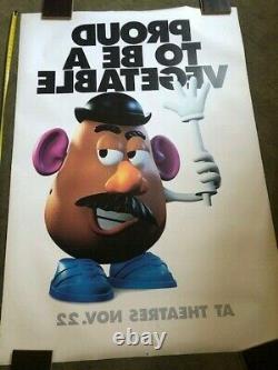 Rare Disney Toy Story Énorme Abribus Affiche Du Film 4x6 Tête De Pomme De Terre Mr Tom Hanks