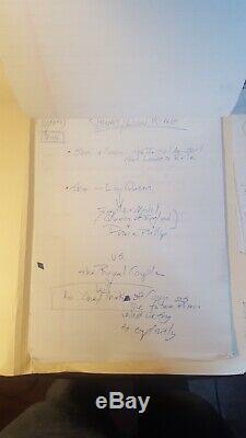 Rare Immense Terrain Disney Lion King II Main Notes De Production Écrite Scripts Et Plus