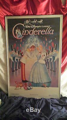 Réimpression Originale Du 1949 Disney Cendrillon Réédition Poster, Archivé #