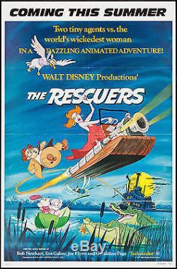 Rescuers Original Disney Us Advance Une Feuille Poster