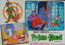 Robin Des Bois Italien Fotobusta Photobusta Affiches De Films Ensemble X10 Walt Disney 1973