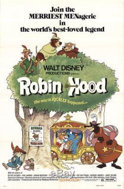 Robin Hood 1973 27x41 Orig Affiche De Film Fff-50546 Peter Ustinov Disney
