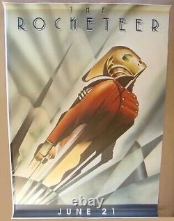 Rocketeer Disney Dave Stevens Bill Campbell 48x70 Affiche D'arrêt D'autobus Roulé