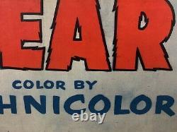 Rugged Bear One Sheet Movie Poster 1953 Walt Disney Donald Duck Sur Linen