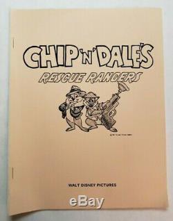 Sauvetage Dale ' Chip'n Rangers / 1987 Walt Disney Tv Bible De La Série Et Guide De L'auteur