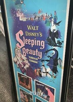 Sleeping Beauty 1959 Insert Encadré 14x36 Affiche De Film Walt Disney Authentic
