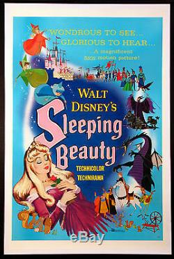 Sleeping Beauty Disney Animation 1959 Style A 1 Feuille Fine Linenbacked