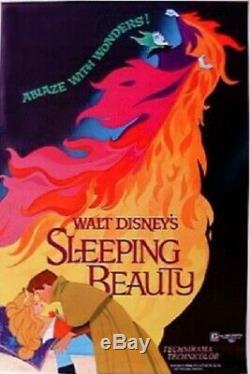 Sleeping Beauty Original Rolled 27x41 Affiche Du Film 1979 Disney