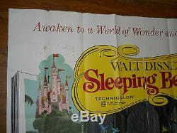 Sleeping Beauty (r1970) Affiche Du Film Original Feuille Disney 6 (77x77) # R70 / 124