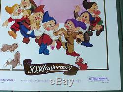 Snow White R87 Disney 50ème Anniversaire Original Us One Sheet Film Poster Rollled