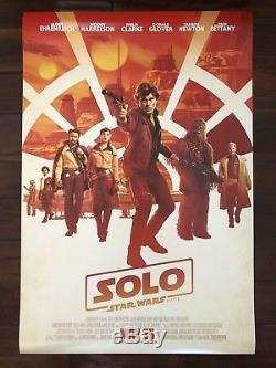 Solo A Star Wars Histoire Original Ds 27x40 Sept (6) Ensemble D'affiche De Cinéma Disney Dmr