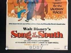 Song Of The South (disney, R1973)- Original One Sheet Movie Poster 27 X 41