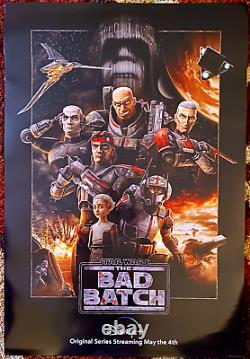 Star Wars The Bad Batch Original 27x40 Affiche De Cinéma D/s Disney Plus Matt Lanter