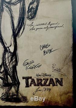 Tarzan Originale 1999 Affiche Du Film D'animation Disney Autographié & Menthe