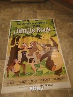 The Jungle Book Original 1967 Walt Disney Movie Poster Us One Sheet Mowgli Baboo