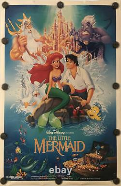 The Little Mermaid Original 27x41 Ds/rolled Movie Poster Walt Disney 1989