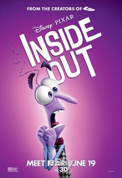 Toutes Les 5 Affiches De Film D'abri D'autobus De Personnage De Pixar De Disney Dedans Dehors D / S 4ft X 6ft