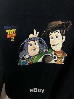 Toy Story 1 2 3 4 Disney Veste De Film Cast Crew Woody Buzz Vintage Vtg XL Surpeme