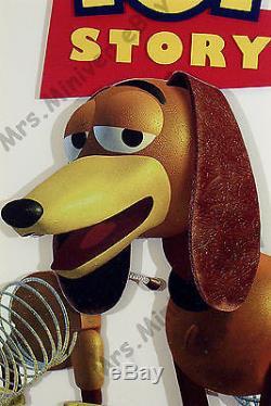 Toy Story & Goofy Film Art Original! Afficheurs De Posters 3-d Disney World Park