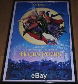 Tres Rare Originale 1993 Walt Disney Pictures Hocus Pocus Poster Double Face