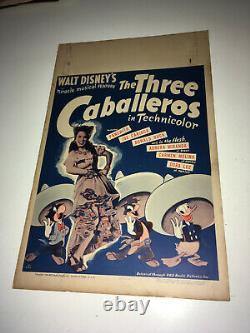 Trois Caballéros Affiche De Cinéma Originale 1944 Walt Disney Animation Donald Duck