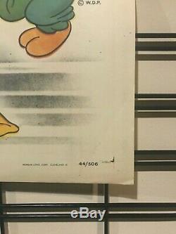 Trois Caballeros Originale Une Feuille Poster 1944 Walt Disney Donald Duck