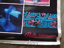 Tron 1982 Disney Original Bally Jeu Vidéo De Mi-chemin 28x36 Affiche Promo Roulée