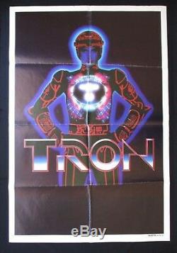 Tron 1982: Rare Affiche Australienne Sur Un Projet De Film, Jeu Vidéo Walt Disney