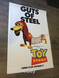 Utilisé 1995 Disney Toy Story 70x46 Bannière D'affichage De Cinéma En Vinyle À Double Face