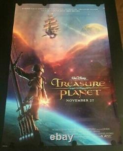 Very Rare Treasure Planet Advance Affiche De Cinéma Double Face Disney