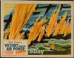 Victoire De Walt Disney Par Air Power 1943 Originale Carte Hall 2