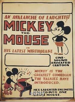 Vintage 1929 Disney Mickey L'avalanche De Souris De Rire 11x15.5 Carte De Fenêtre