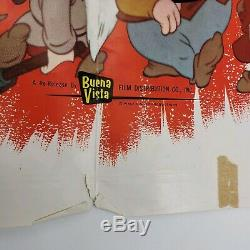 Vintage 1964 Disney Orginal Poster Lot Mary Poppins Et Blanche-neige 27x41 Extras