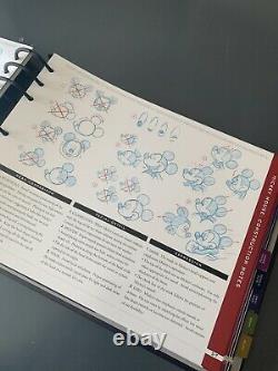 Vintage 1996 Disney Standard Character Guide Guide De Style Guide Des Années 90 Mickey Donald