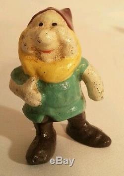 Vintage Blanche Neige Et Le Sept Nains Disney Fonte Toy Chiffres Complet