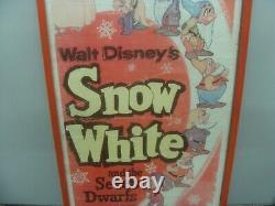 Vintage Blanche-neige - The Seven Dwarfs 1958 Poster Walt Disney Classic R58/1