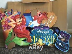 Vintage Disney Petite Sirène Full Movie Afficher 90s Standee Video Store Vhs