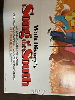 Vintage Original Walt Disney Song Of The South 1972 Affiche Du Film