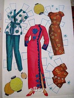 Vintage Rare Disney 1961 Annette À Hawaii Paper Doll Avec Très Peu De Vêtements Non Découpés