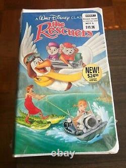 Vintage Walt Disney's The Rescuers Vhs Tape 17951-3990-3 (1390)