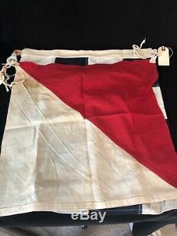 Vtg Marine Signal Flags Us Signal Flags Japonais Disney Props Pearl Harbor Seconde Guerre Mondiale