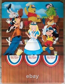 Walt Disney All-star Animation Video Store Standee Cib 1983 Vtg Promo Lg 6x4 Ft