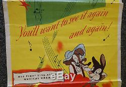 Walt Disney Chanson Du Sud 1946 Original Insert Movie Very Rare