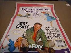 Walt Disney La Mère 1961 Trap Théâtre Authentique Utilisé, S / S Us Insérer