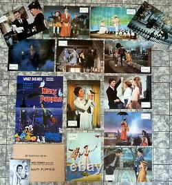 Walt Disney Mary Poppins 12 Aushangfotos Kompl. Satz + A3 Wa Allemand L C's 1975