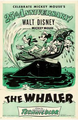 Walt Disney Mickey Mouse Dans The Whalers Vintage Movie Poster 1953