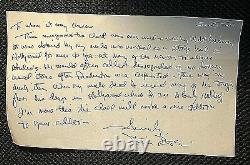 Walt Disney Orig. Porté Personnellement Et Utilisé (1960) Fermoir Monogram D Goldtone Tie
